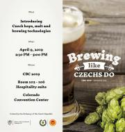 Brewing Like Czechs Do at CBC 2019