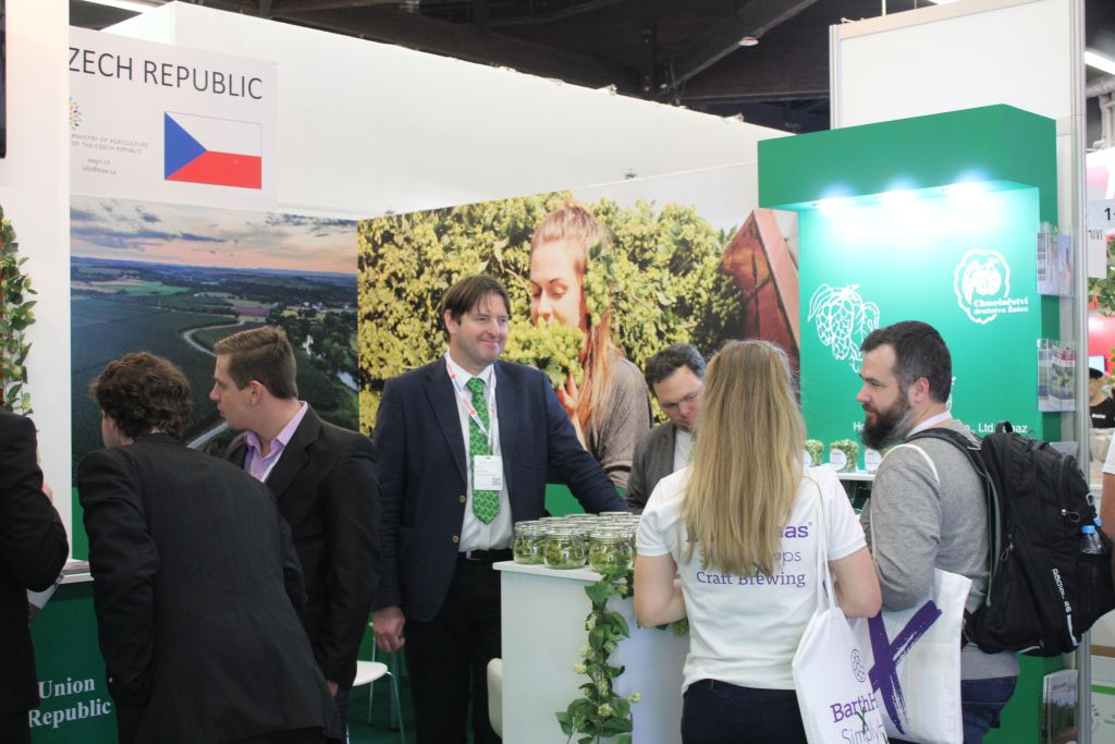 Booth of Hop Growers Union of the Czech Republic (Germany, Nuremberg, 12-14 November 2019).<br />